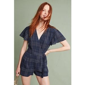 Anthropologie Greylin Navy Kate Wrap Romper
